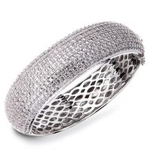 2015 Real Cuff Bracelets Pulseiras Wedding Jewelry Luxury Elegant Bracelet Aaa Cubic Zirconia Bangles Propose Marriage