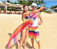 free Shipping lovers beach pants male women's trunk swimwear lovers swimwear 13