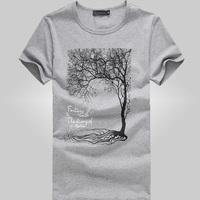 fashion men's free shipping t-shirt , 2014 men's slim o-neck summer t shirt , casual cooling summer dress 12