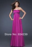 2014 Strapless Full Length Chiffon Prom Dress