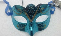 Fashion new mask gold shining plated party masks wedding props masquerade mardi gras mask 24pcs/lot mix color 128