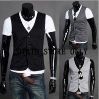 NEW ARRIVED ! Sau San stylish casual vest Gentleman Ves t Men's Formal Suit V-neck vest Slim Fit Fashion  handsome maledv032