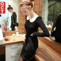 2014 new spring Korean style women dress plus size knitted dress women free shipping i1016