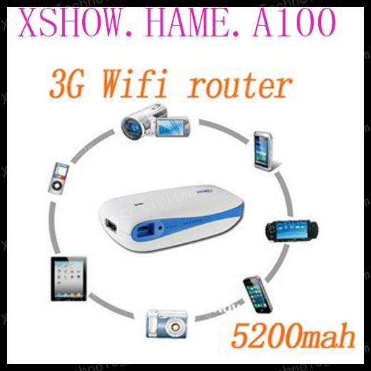HAME A100 3g wifi router Wireless Router wifi repeater wifi networking Mini Portable A2 150Mbps With 5200mAh Power Bank(China (Mainland))