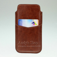 Leather Sleeve Pouch Case Card Pocket for iPhone 5 5S 5C