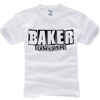 2014 new brand famous baker skateboards band summer t-shirt cotton letter print t shirt man tops tees cotton casual short sleeve