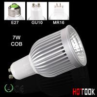 GU10 led track spot light cob 7w led spotlight Spotlighting for home Ultra bright Lamp 85~265V CE ROHS Warranty 2 years X 10PCS