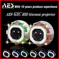 AES G1C hid bi-xenon square double angeleye xenon hid headlight