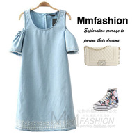 Lovable Secret - Fashion women's mmfs 2014 spring strapless denim one-piece dress  free shipping