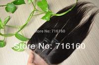 3 part silk base closure brazilian hair,clear parted 4x4 silk straight silk base closure free shipping