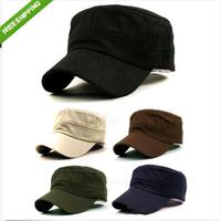 5PC 5 Colors Stylish Plain Men's Military Army Cap Castro Cadet Patrol Cap Hat Adjustable Summer Women&Men Fashion Sunhat 671111