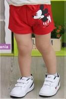 2014 New Summer Children Mickey Shorts Breeches Cotton Cartoon Boys Girls Baby Beach Pants Fashion Sandbeach  Clothing 660025J