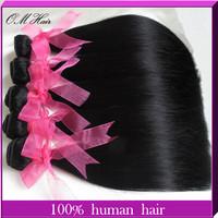 "OM Hair:100% Unprocessed Hair Weave Straight 4 Bundles Brazilian Virgin Hair Extension 4pcs Mix Length 8""-28"" Free shipping"