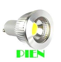 Free shipping 5X High power 85V-265V 3W 5W GU10 COB LED lamp light led Spotlight 55mm 60mm length White/Warm white led lighting