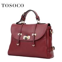 Commercial tosoco2014 cowhide shaping bag female bag portable one shoulder cross-body women's handbag