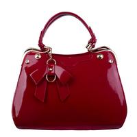 2014 japanned leather female handbag personality rivet bag sweet bow bags fashion women's handbag