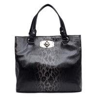 Tosoco 2014 women's handbag fashion handbag fashion serpentine pattern japanned leather shiny casual big bag 220259