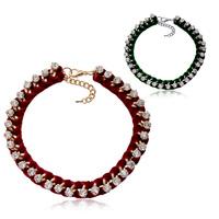 2013 34 quality zircon luxury decoration flannelet zircon necklace