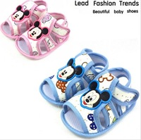 2014 Hot Sale New Baby Kids Girl Shoes Cartoon Mouse Non-Slip Soft Toddler Sandals Summer