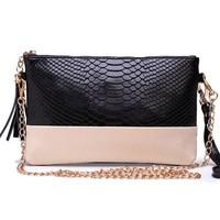 2014 Alligator Pattern woman handbag genuine leather chain designer woman messenger bag fashion luxury lady purses and handbag