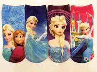 retail hot sale 2014 new baby cotton frozen princess socks Cute Girls Children's sock kids cartoon Frozen socks baby Nice girls