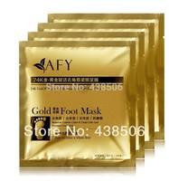 AFY 7pairs=14pcs 24K GOLD sosu baby foot skin care whitening foot mask Foot peeling exfoliating feet mask