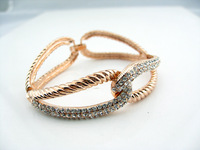 Fashion 18k gold vintage fashion all-match cutout wide bracelets