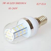 4pc/lot High Power 3W E27 E14 3014 SMD 48 LED Corn Bulbs AC85-265V Warm White/ White Super Bright