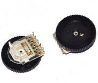 5pcs. Volume Dial Dual Wheel Duplex Potentiometer B503 50K Radio 2-Channel Stereo