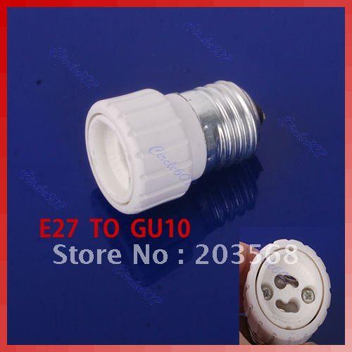 B39LED Base E27 to GU10 Light Lamp Bulbs Adapter Converter(China (Mainland))