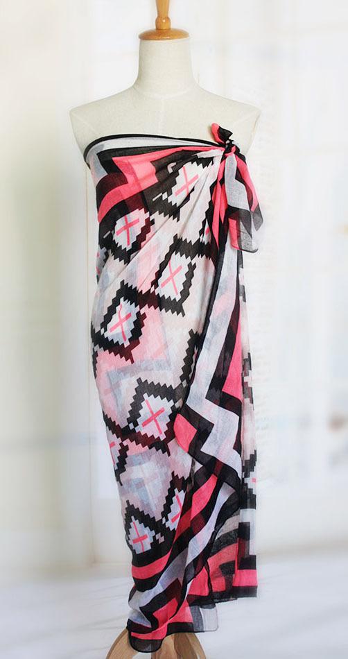 TOP Quality Guarantee! Brand Designer Swimwear Cover Ups cotton voile Pareo Beach tunic Bikini cover ups beach tunic XY4(China (Mainland))