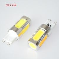 2pc/lot 7W Super Bright G9 COB AC 85-265V LED Car Bulb Light Lamp + Free Shipping