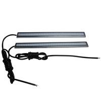 2pcs/ LOT Daytime Running Light  Waterproof  IP65 Dark Blue  Silver-Frame12V COB Auto LED Light 17CM