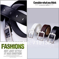 Free Shipping 2013 Fashion Cowskin Leather Men Brief Cowhide Genuine Strap Buckle Casual High quality Belt