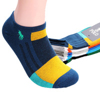 5pairs(10pcs)/lot 2014 new cotton short socks brand ankle socks mens polo sock spring autumn summer