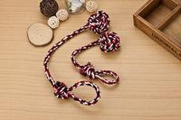 Free Shipping Wholesale dog bites rope chain dragging Rope dog toy ball toy ball Nagao (4pcs/lot)