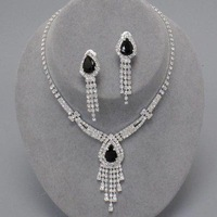 2014 Luxury bride chain sets necklace earrings set accessories married 4