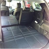 Free shipping for 2013 Hyundai Grand Santafe 7seats trunk mats+back cushion waterproof eco mats 2013 Grand Santafe luggage pads