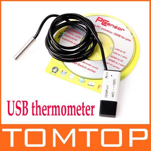 PC Laptop USB Powered Thermometer Temperature Sensor Data Log, Free Shipping Wholesale(China (Mainland))