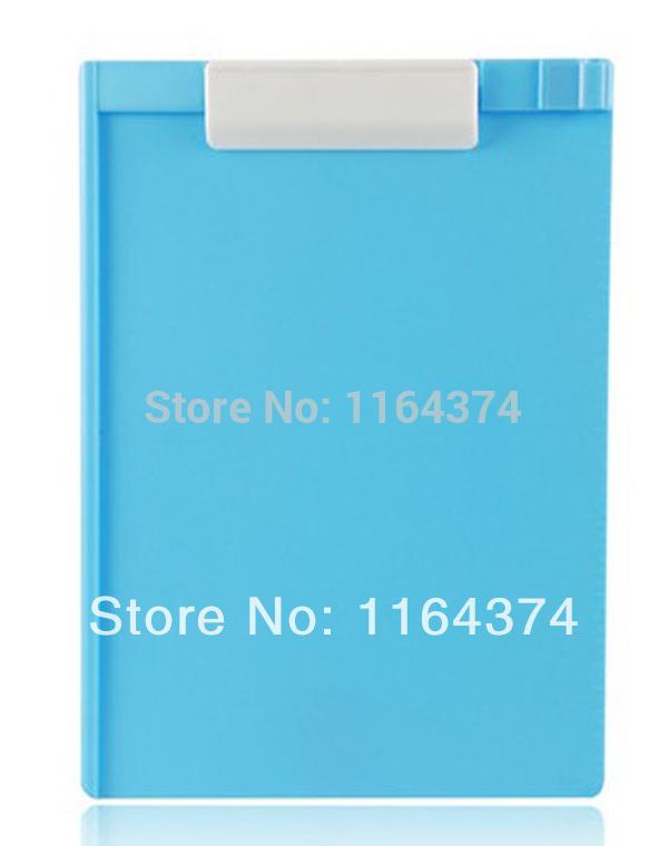 The new lightweight plastic scribe A4 sheet - WordPad - storage writing pad-Blue(China (Mainland))