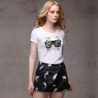 Trendy NaluLa Glasses Kitten Womens T-Shirt Round Neck Short Sleeves Hot Sale