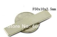 10PCS Neodymium Block Countersunk Ring Strong Magnets F50 x10 x 2.5mm  N35 Free Shipping