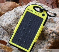 Brand New Universal 5000Mah Portable Waterproof Solar Charger Panel Power Bank Solar Battery Blue Green Yellow for All Phones