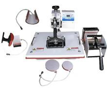 7 in 1 combo heat sublimation machine mug heat press machine 220/110V t-shirt heat transfer machine DHL free shipping