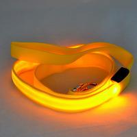 Pure Color Dog Pet LED Flashing Leash Nylon Light Up Lead Rope (width 2.5cm * length 120cm) for Medium Large Dogs 10pcs/lot