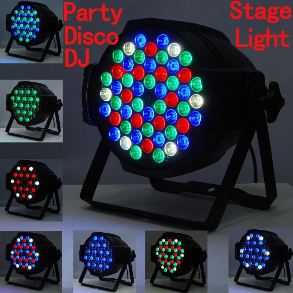 ON SALE #DJ PAR 54x3w LED Stage Lights 162watt RGB PAR 64 DMX PARTY SHOW(China (Mainland))