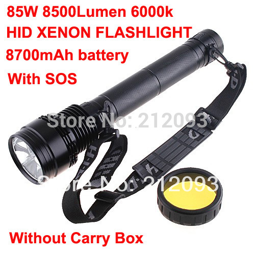 Free shipping rechargeable 45/65/85W 8500Lumen HID Xenon 8700mAh Torch Flashlight Camping & Hiking without carry box on sales(China (Mainland))