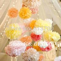 """30 Colors 500 pcs  6""""  15CM Tissue Paper Pom Poms Decorative Flower Balls-wall  Wedding Party Home Decoration festive supplies"""