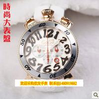 Mens watch quartz lovers watch chronograph fashion big dial gaga watch wooden box