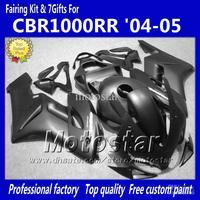 7 gifts flat black Injection mold ABS Fairings for HONDA CBR1000RR 2004 2005 CBR1000 RR CBR 1000RR 04 05 bodywork fairing kk82
